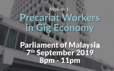Parliamentary Debathon 2019 – Motion 1: Precariat Workers in Gig Economy